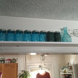 Taking Advantage of Unused Space To Store Canning Jars